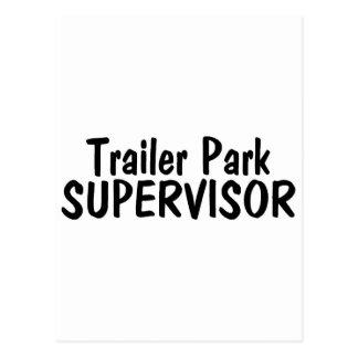 Supervisor del parque de caravanas tarjeta postal