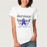 Superviviente anal Deco floral del cáncer Camiseta