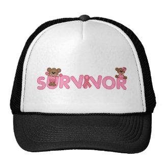 Superviviente con el cáncer de pecho adorable de gorras de camionero