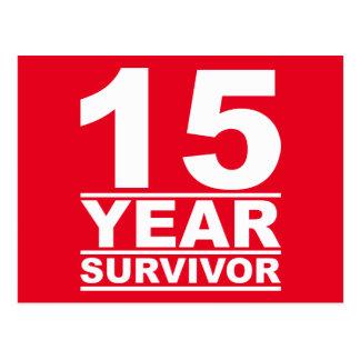superviviente de 15 años postal