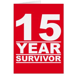 superviviente de 15 años tarjeta de felicitación