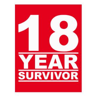 superviviente de 18 años postal