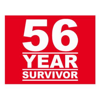 superviviente de 56 años postal