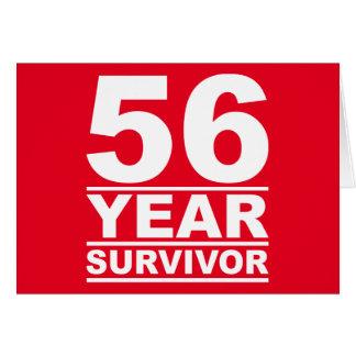superviviente de 56 años tarjeta de felicitación