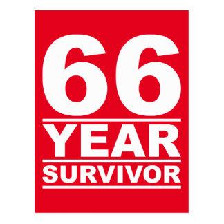 superviviente de 66 años postal