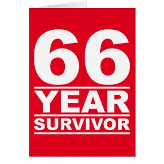 superviviente de 66 años tarjeta de felicitación