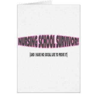 Superviviente de la escuela de enfermería y yo no tarjeton