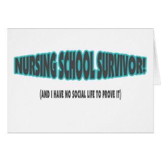 Superviviente de la escuela de enfermería (y yo no felicitación