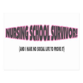 Superviviente de la escuela de enfermería y yo no postales
