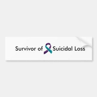 Superviviente de la pérdida suicida pegatina para coche