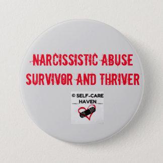 Superviviente del abuso y botón narcisistas de
