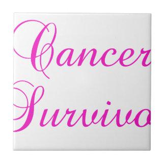 Superviviente del cáncer azulejo de cerámica