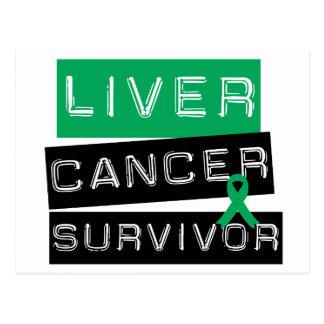 Superviviente del cáncer de hígado postal