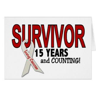 Superviviente del cáncer de pulmón 15 años tarjetas