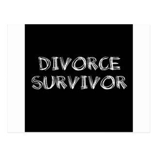 Superviviente del divorcio - 1 - blanco postal