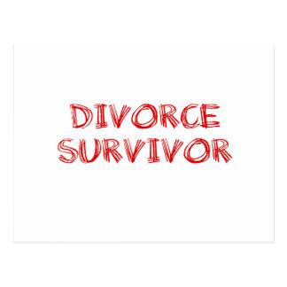 Superviviente del divorcio - 1 - rojo postal