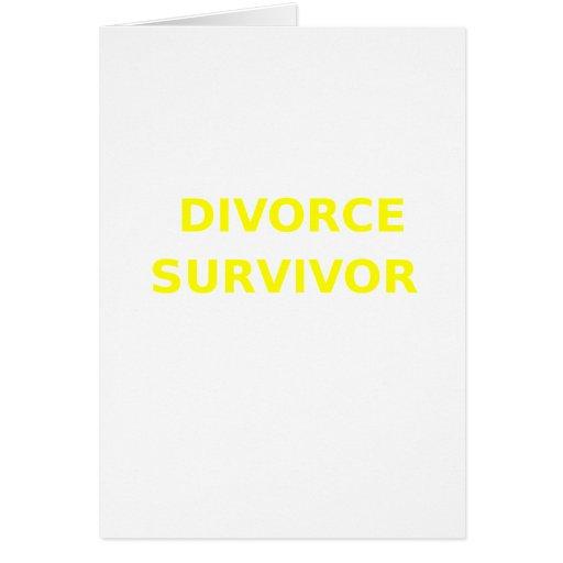 Superviviente del divorcio - 2 - amarillo felicitacion