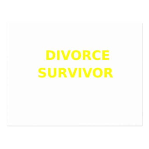 Superviviente del divorcio - 2 - amarillo tarjetas postales