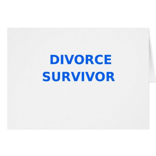 Superviviente del divorcio - 2 - azul tarjetón