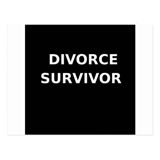 Superviviente del divorcio - 2 - blanco postales