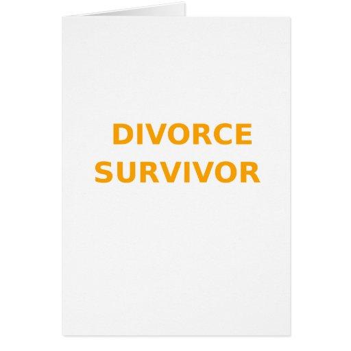 Superviviente del divorcio - 2 - naranja tarjetas