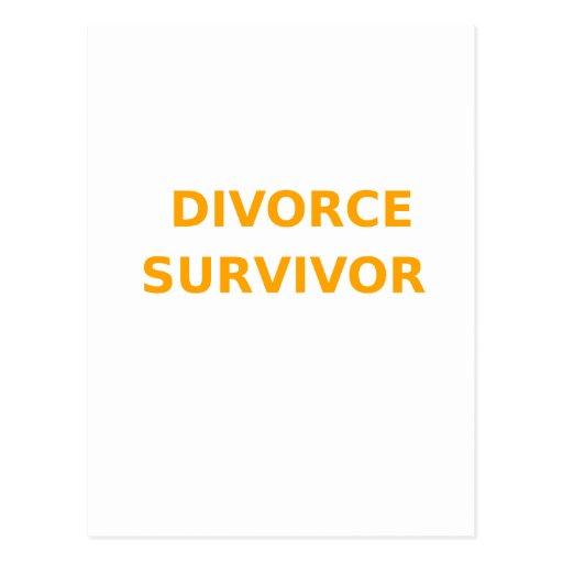 Superviviente del divorcio - 2 - naranja postales