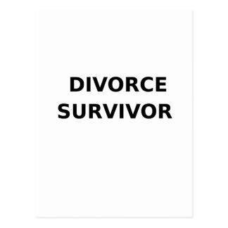 Superviviente del divorcio - 2 - negro postal