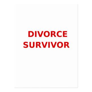 Superviviente del divorcio - 2 - rojo postal