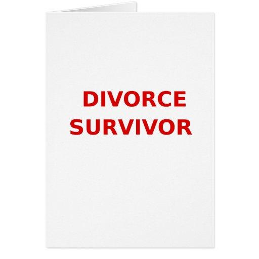 Superviviente del divorcio - 2 - rojo tarjeton
