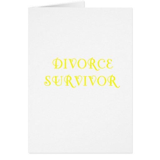 Superviviente del divorcio - 3 - amarillo tarjeton