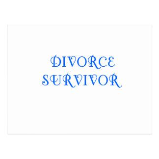 Superviviente del divorcio - 3 - azul tarjetas postales