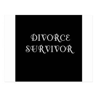 Superviviente del divorcio - 3 - blanco postal