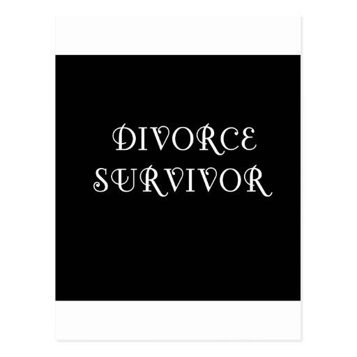 Superviviente del divorcio - 3 - blanco tarjetas postales