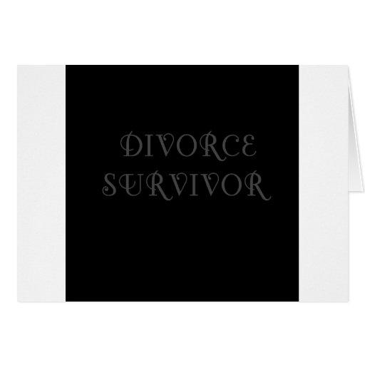 Superviviente del divorcio - 3 - gris felicitacion
