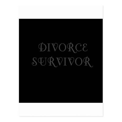 Superviviente del divorcio - 3 - gris tarjetas postales
