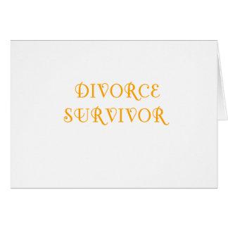 Superviviente del divorcio - 3 - naranja tarjeta de felicitación
