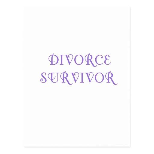 Superviviente del divorcio - 3 - violeta tarjeta postal