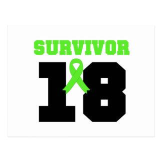 Superviviente del LINFOMA 18 AÑOS de regalos Postal