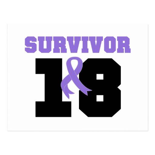 Superviviente del linfoma de Hodgkins 18 años Tarjeta Postal