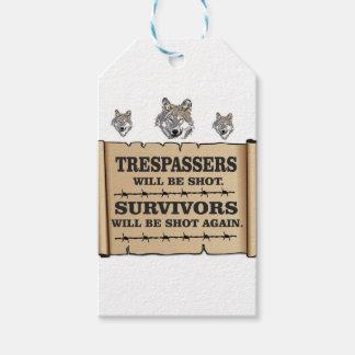 superviviente del lobo sí etiquetas para regalos