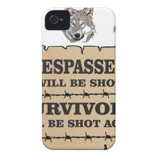 superviviente del lobo sí funda para iPhone 4 de Case-Mate