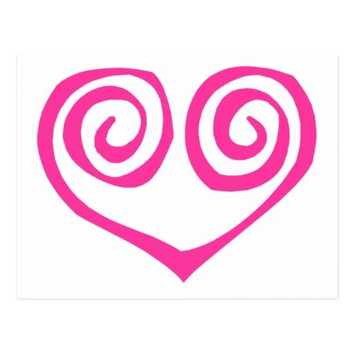 Superviviente espiral doble rosado del cáncer de p postal