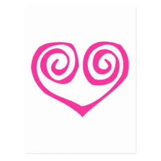 Superviviente espiral doble rosado del cáncer de postal