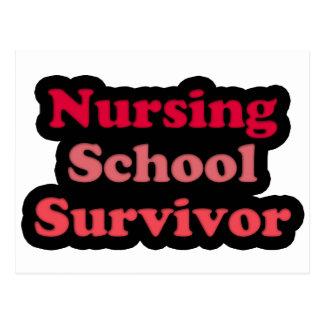 Superviviente negro rosado de la escuela de postal