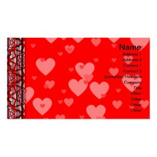 Suplente colorido del estampado de flores grande tarjeta de negocio