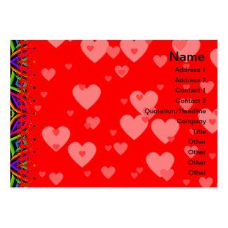 Suplente colorido del estampado de flores grande tarjeta de visita