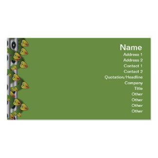 Suplente colorido del estampado de flores grande plantillas de tarjeta de negocio