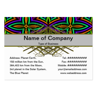 Suplente colorido del estampado de flores grande plantilla de tarjeta personal