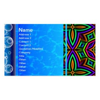 Suplente colorido del estampado de flores grande plantilla de tarjeta de negocio