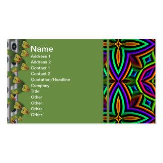 Suplente colorido del estampado de flores grande tarjetas de visita